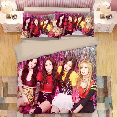 Kpop Blackpink #2 Duvet Cover Quilt Cover Pillowcase Bedding Set Bed Linen Home Bedroom Decor