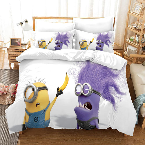 Despicable Me Minions #33 Duvet Cover Quilt Cover Pillowcase Bedding Set Bed Linen Home Decor