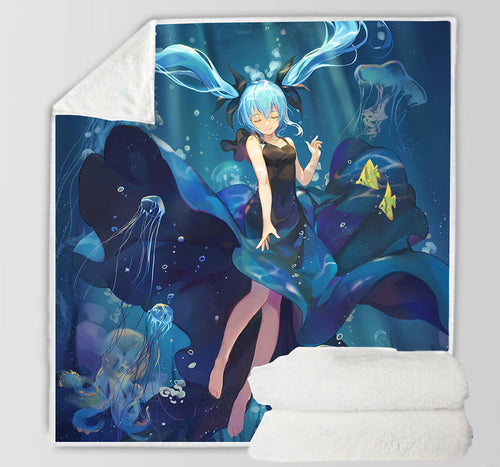 Hatsune Miku #22 Blanket Super Soft Cozy Sherpa Fleece Throw Blanket for Men Boys
