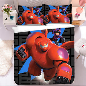 Big Hero 6 Baymax #3 Duvet Cover Quilt Cover Pillowcase Bedding Set Bed Linen Home Bedroom Decor