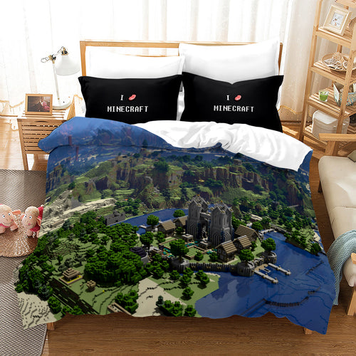Minecraft #12 Duvet Cover Quilt Cover Pillowcase Bedding Set Bed Linen Home Bedroom Decor