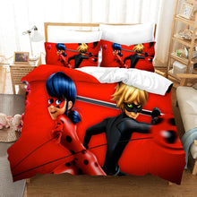 Load image into Gallery viewer, Miraculous Ladybug Cat Noir #12 Duvet Cover Quilt Cover Pillowcase Bedding Set Bed Linen Home Bedroom Decor