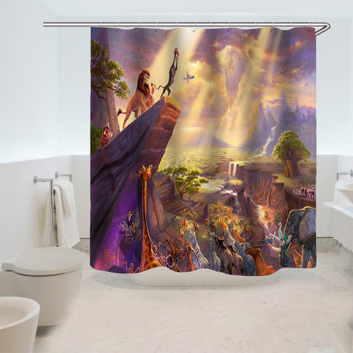 The Lion King Simba #1 Shower Curtain Waterproof Bath Curtains Bathroom Decor With Hooks