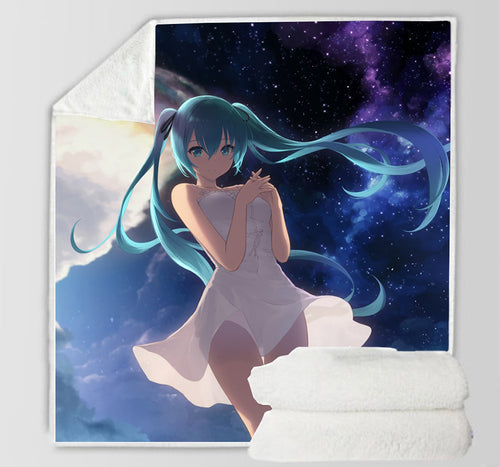 Hatsune Miku #30 Blanket Super Soft Cozy Sherpa Fleece Throw Blanket for Men Boys