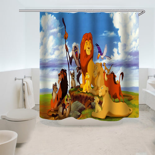 The Lion King Simba #2 Shower Curtain Waterproof Bath Curtains Bathroom Decor With Hooks