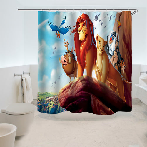 The Lion King Simba #4 Shower Curtain Waterproof Bath Curtains Bathroom Decor With Hooks