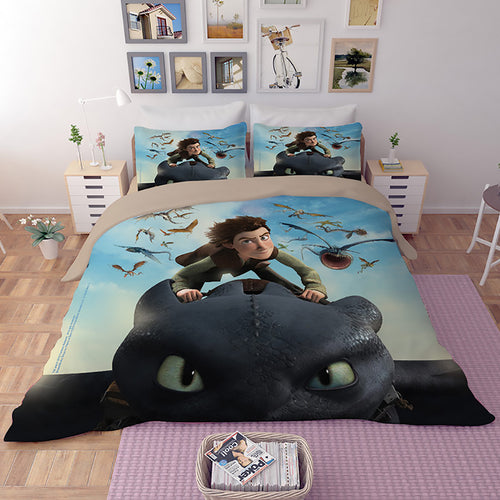 How to Train Your Dragon Hiccup #27 Duvet Cover Quilt Cover Pillowcase Bedding Set Bed Linen