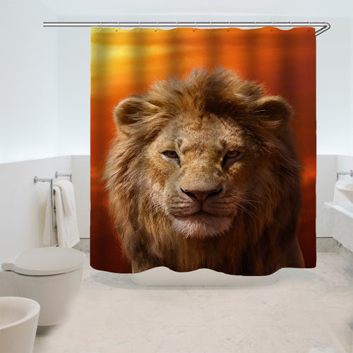 The Lion King Simba #10 Shower Curtain Waterproof Bath Curtains Bathroom Decor With Hooks
