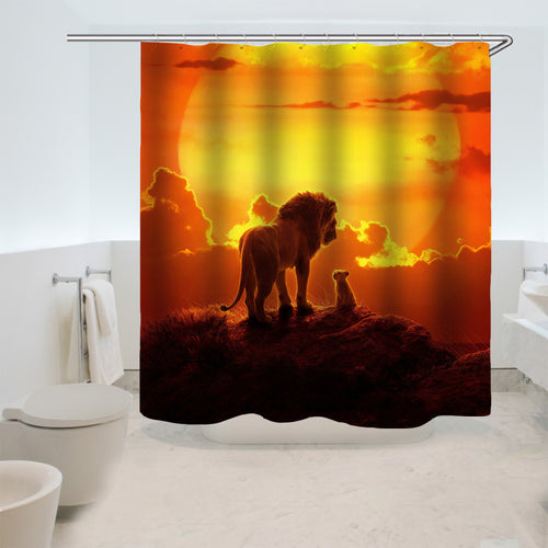 The Lion King Simba #5 Shower Curtain Waterproof Bath Curtains Bathroom Decor With Hooks
