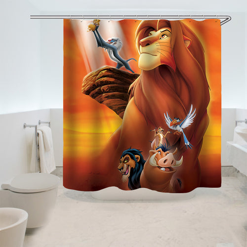 The Lion King Simba #3 Shower Curtain Waterproof Bath Curtains Bathroom Decor With Hooks
