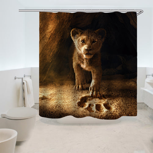 The Lion King Simba #7 Shower Curtain Waterproof Bath Curtains Bathroom Decor With Hooks