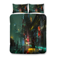 Load image into Gallery viewer, Cyberpunk 2077 #72 Duvet Cover Quilt Cover Pillowcase Bedding Set Bed Linen Home Bedroom Decor