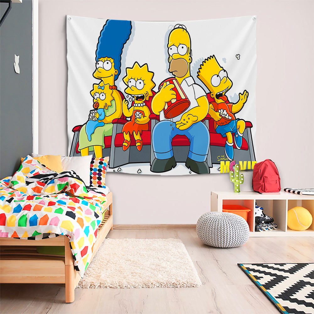 Anime The Simpsons Homer J. Simpson #44 Wall Decor Hanging Tapestry Home Bedroom Living Room Decoration