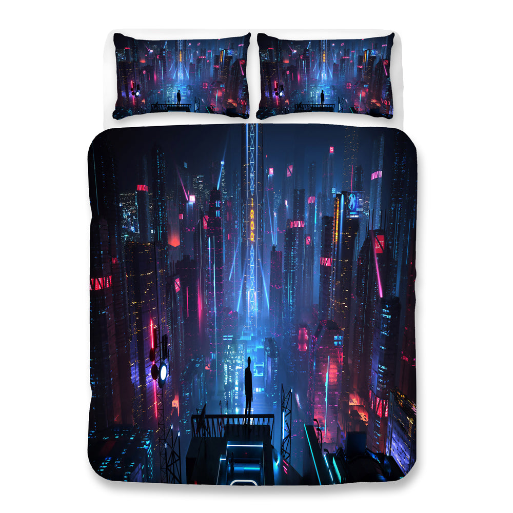 Cyberpunk 2077 #75 Duvet Cover Quilt Cover Pillowcase Bedding Set Bed Linen Home Bedroom Decor