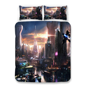 Cyberpunk 2077 #79 Duvet Cover Quilt Cover Pillowcase Bedding Set Bed Linen Home Bedroom Decor