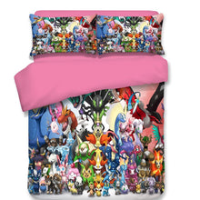 Load image into Gallery viewer, Cartoon Pikachu #4 Duvet Cover Quilt Cover Pillowcase Animation Bedding Set