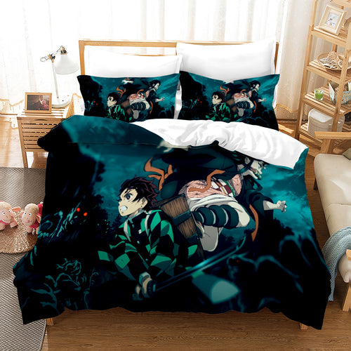 Demon Slayer Kimetsu no Yaiba Season 2 #4 Duvet Cover Quilt Cover Pillowcase Bedding Set Bed Linen