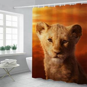 The Lion King Simba #14 Shower Curtain Waterproof Bath Curtains Bathroom Decor With Hooks