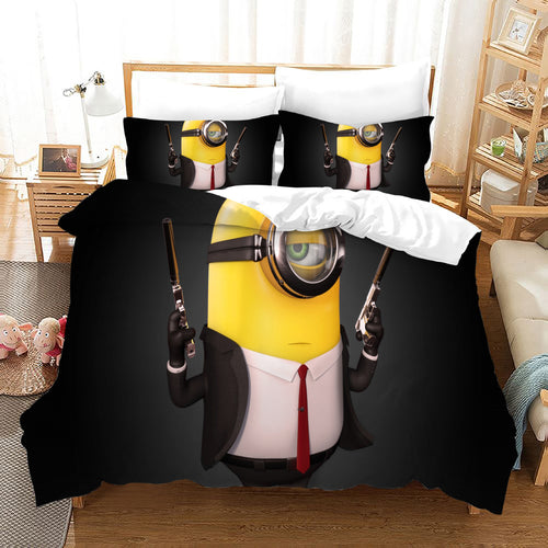 Despicable Me Minions #34 Duvet Cover Quilt Cover Pillowcase Bedding Set Bed Linen Home Decor
