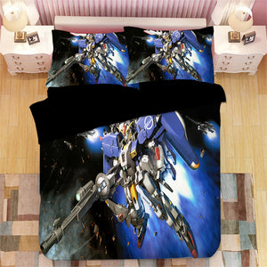 GUNDAM #3 Duvet Cover Quilt Cover Pillowcase Bedding Set Bed Linen Home Bedroom Decor