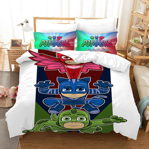 PJmasks #24 Duvet Cover Quilt Cover Pillowcase Bedding Set Bed Linen Home Decor