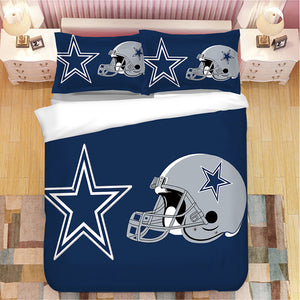 Dallas Cowboys NFL #2 Duvet Cover Quilt Cover Pillowcase Bedding Set Bed Linen Home Decor