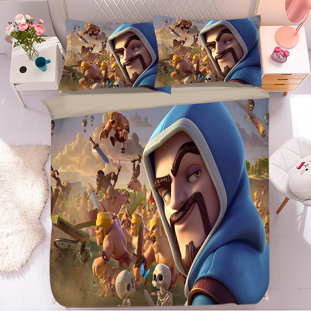 Clash of Clans #4 Duvet Cover Quilt Cover Pillowcase Bedding Set Bed Linen Home Bedroom Decor