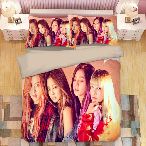 Kpop Blackpink #3 Duvet Cover Quilt Cover Pillowcase Bedding Set Bed Linen Home Bedroom Decor