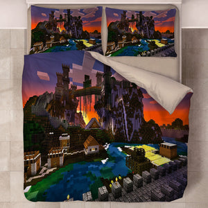 Minecraft #34 Duvet Cover Quilt Cover Pillowcase Bedding Set Bed Linen Home Decor
