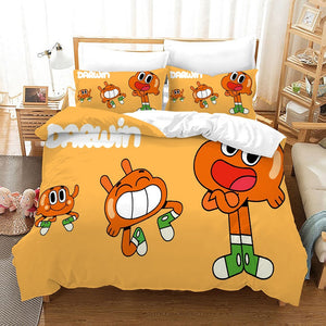 The Amazing World of Gumball #4 Duvet Cover Quilt Cover Pillowcase Bedding Set Bed Linen Home Bedroom Decor
