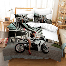 Load image into Gallery viewer, The Motorcycle Girl #5 Duvet Cover Quilt Cover Pillowcase Bedding Set Bed Linen Home Bedroom Decor