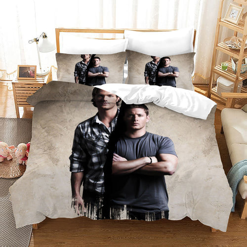 Supernatural Dean Sam Winchester #15 Duvet Cover Quilt Cover Pillowcase Bedding Set Bed Linen Home Decor