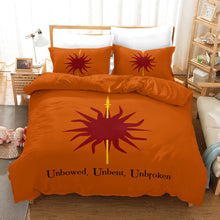 Load image into Gallery viewer, Game of Thrones Unbowed Unbent Unbroken #31 Duvet Cover Quilt Cover Pillowcase Bedding Set Bed Linen Home Decor