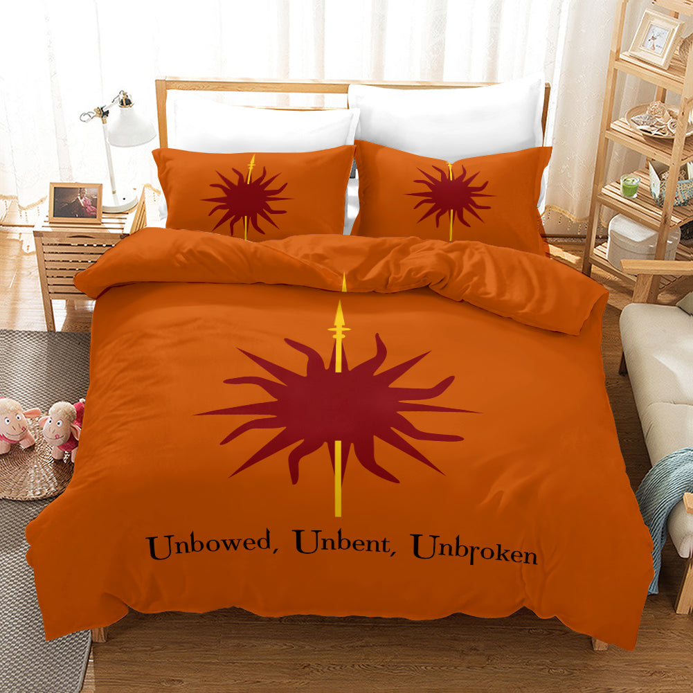 Game of Thrones Unbowed Unbent Unbroken #31 Duvet Cover Quilt Cover Pillowcase Bedding Set Bed Linen Home Decor