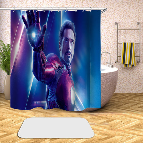 Avengers Endgame Infinity War #67 Shower Curtain Waterproof Bath Curtains Bathroom Decor With Hooks