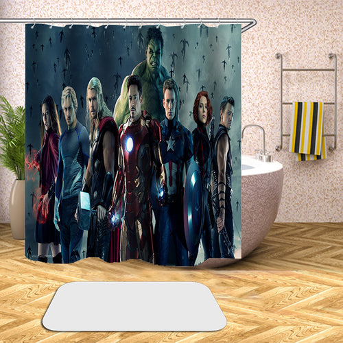Avengers Endgame Infinity War #68 Shower Curtain Waterproof Bath Curtains Bathroom Decor With Hooks