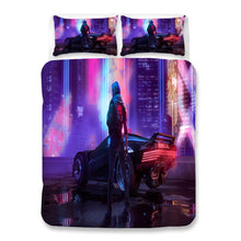 Load image into Gallery viewer, Cyberpunk 2077 #36 Duvet Cover Quilt Cover Pillowcase Bedding Set Bed Linen Home Bedroom Decor
