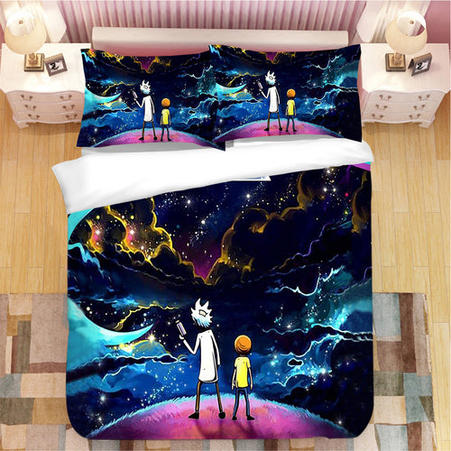 Rick and Morty #11 Duvet Cover Quilt Cover Pillowcase Bedding Set Bed Linen Home Bedroom Decor