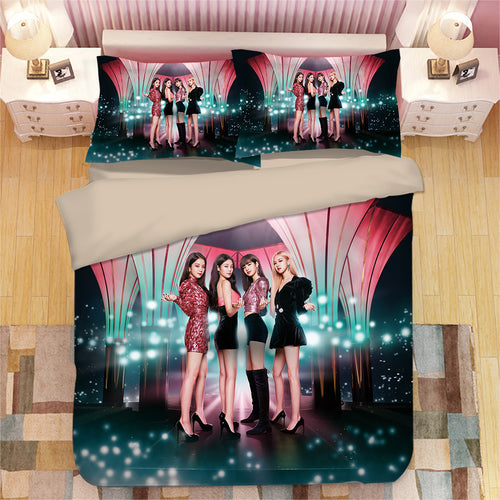 Kpop Blackpink #6 Duvet Cover Quilt Cover Pillowcase Bedding Set Bed Linen Home Bedroom Decor