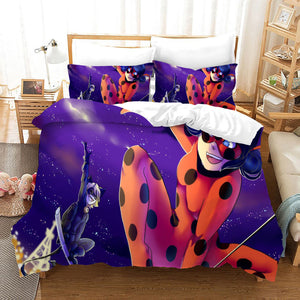 Miraculous Ladybug Cat Noir #15 Duvet Cover Quilt Cover Pillowcase Bedding Set Bed Linen Home Bedroom Decor