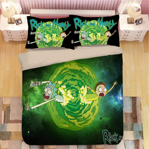 Rick and Morty #14 Duvet Cover Quilt Cover Pillowcase Bedding Set Bed Linen Home Bedroom Decor