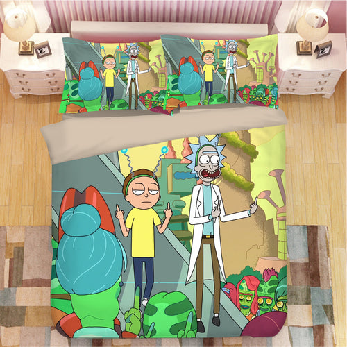 Rick and Morty #15 Duvet Cover Quilt Cover Pillowcase Bedding Set Bed Linen Home Bedroom Decor