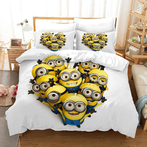Despicable Me Minions #36 Duvet Cover Quilt Cover Pillowcase Bedding Set Bed Linen Home Decor