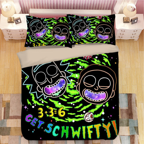 Rick and Morty #17 Duvet Cover Quilt Cover Pillowcase Bedding Set Bed Linen Home Bedroom Decor