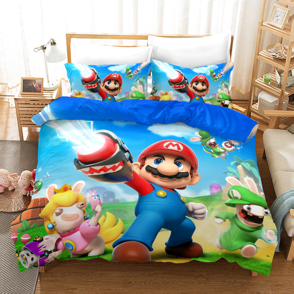 Super Smash Bros. Ultimate Mario #28 Duvet Cover Quilt Cover Pillowcase Bedding Set Bed Linen Home Bedroom Decor