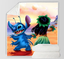 Load image into Gallery viewer, Stitch Lilo & Stitch  #7 Blanket Super Soft Cozy Sherpa Fleece Throw Blanket for Men Boys