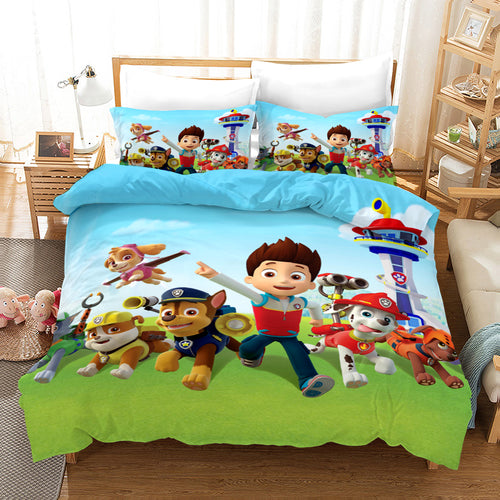 PAW Patrol Marshall #24 Duvet Cover Quilt Cover Pillowcase Bedding Set Bed Linen Home Decor