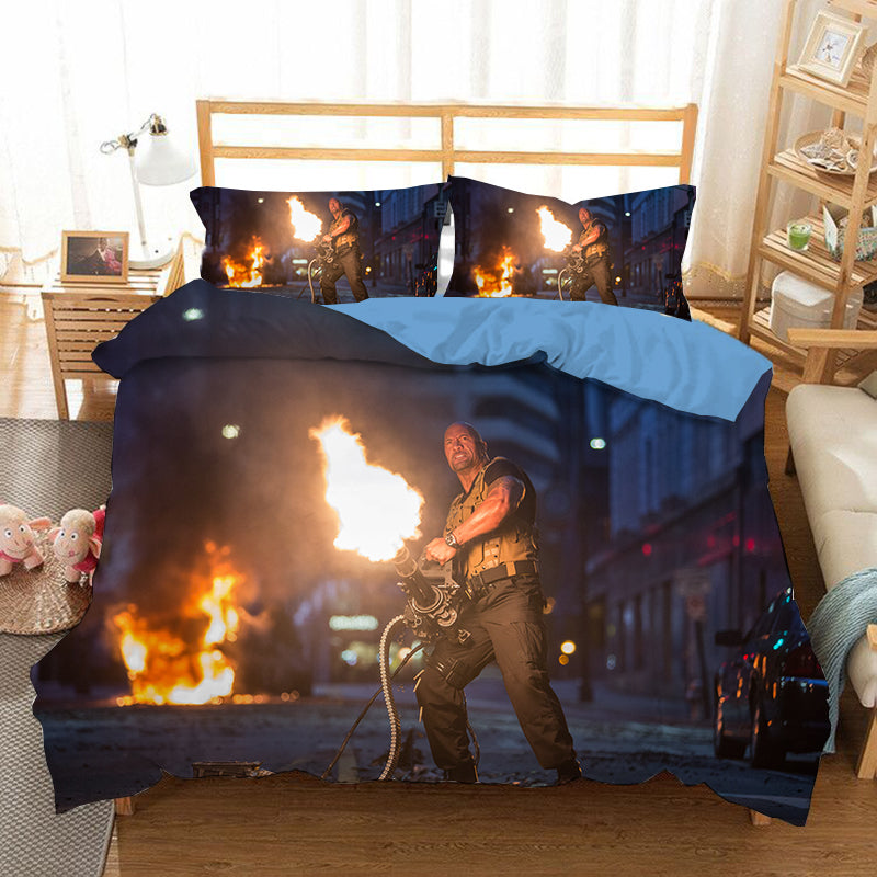 Fast & Furious #7 Duvet Cover Quilt Cover Pillowcase Bedding Set Bed Linen Home Bedroom Decor