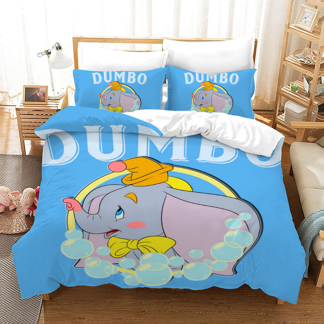Dumbo #7 Duvet Cover Quilt Cover Pillowcase Bedding Set Bed Linen Home Bedroom Decor