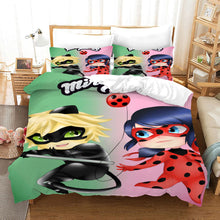 Load image into Gallery viewer, Miraculous Ladybug Cat Noir #16 Duvet Cover Quilt Cover Pillowcase Bedding Set Bed Linen Home Bedroom Decor